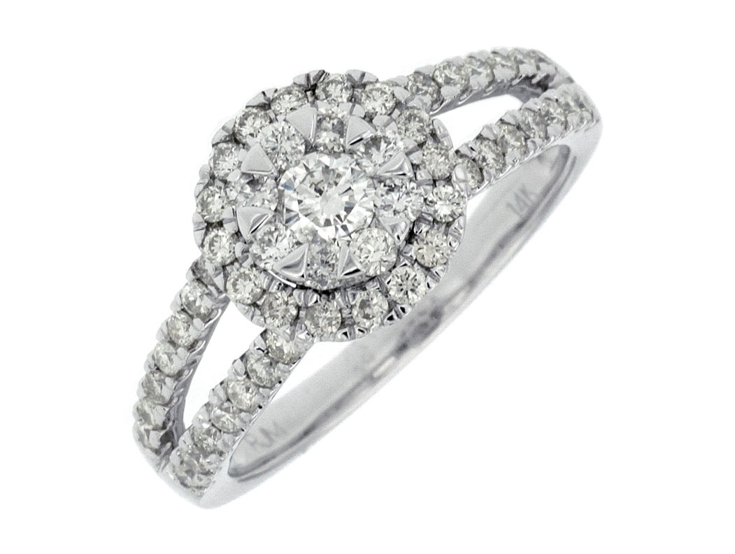 W14 .80TW CLUSTER RING