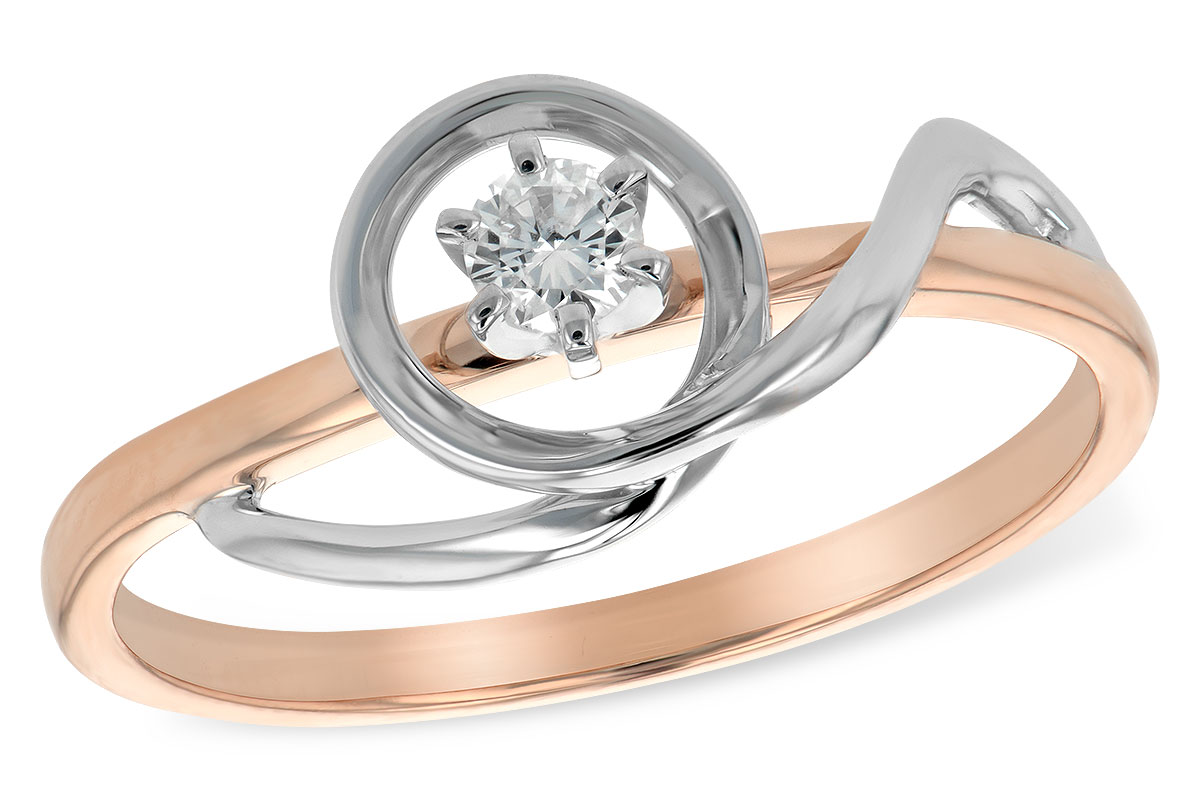 TT14 .11TW LOOPED ENGAGEMENT RING
